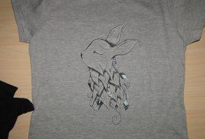 A2 футболк хэвлэгч WER - D4880T гэхэд саарал футболк хэвлэх дээж